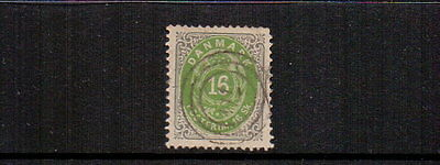 DENMARK 1870-4 16sk LIGHT GREEN FINE USED CAT £200