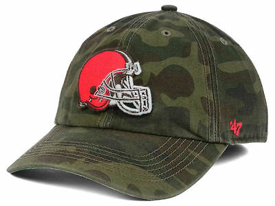 brand new aec59 00f0e Cleveland Browns Nfl Camo Green  47 Brand Team Logo Fitted Franchise  Hat cap Nwt