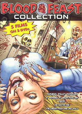 Blood Feast Collection - 5 Films (DVD, 2005, 2-Disc Box Set) Restored/Remastered