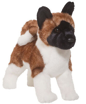 New DOUGLAS CUDDLE TOY Stuffed Soft Plush Animal AKITA Japanese Puppy Dog 16""