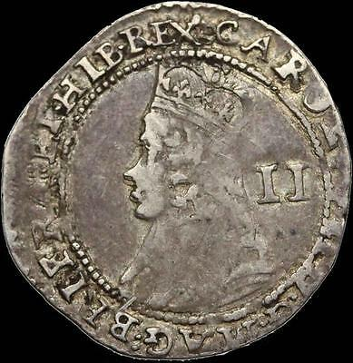 ENGLAND. Charles I Silver Halfgroat, nice condition (SKU #11-65)