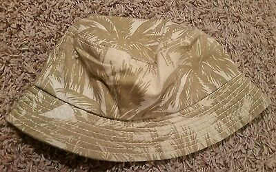 Children's place toddler boys beige tan palm leaf bucket hat size small 4-6 new