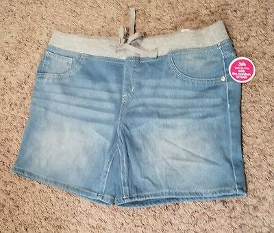 Girls Justice size 18.5 18 1/2 denim jean shorts NWT