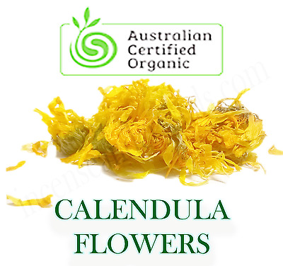 CALENDULA (Calendula officinalis) Certified Organic Dried PETALS Herb/Tea