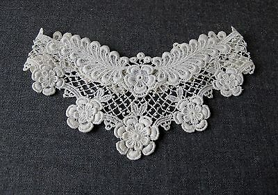 Antique Flowers & Leaves Lace Bride Collar     7793 J