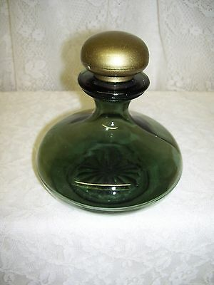 Vintage Green Glass Perfume Bottle