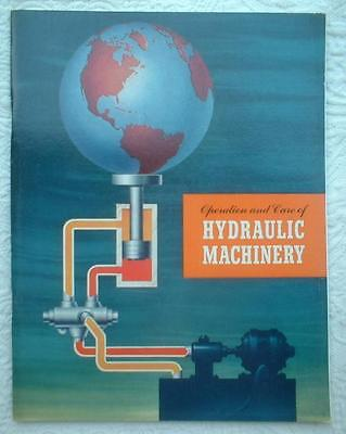 1956 Texaco 2 Pc Lot Hydraulic Machinery Operation & Care & Regal Oils Booklets