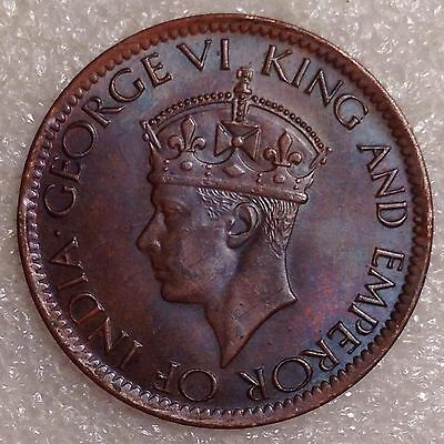 WWII. Era Bronze Coin 1 Cent 1943   Ceylon     #4444
