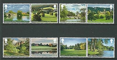 Great Britain 2016 Landscape Gardens Set 8 In Pairs Unmounted Mint, Mnh