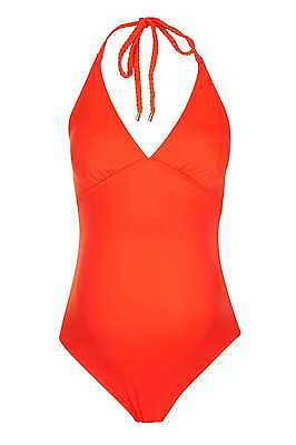 BNWT Topshop Maternity Coral Plaited Strap Swimsuit, Size 10, RRP £34