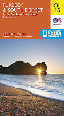 OL15 Purbeck South Dorset Weymouth Poole   Ordnance Survey Explorer Map OL 15