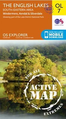 OL7 Lake District South Eastern Lakes LAMINATED ACTIVE Explorer Map OL 7