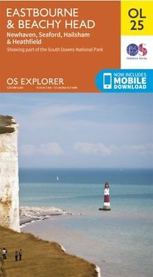 OL25 Eastbourne & Beachy Head Ordnance Survey Explorer Map OL 25