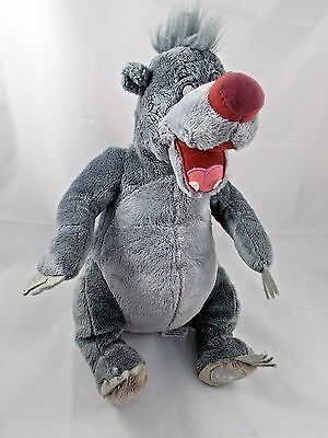 Disney Jungle Book Baloo Bear Plush Sits 12""