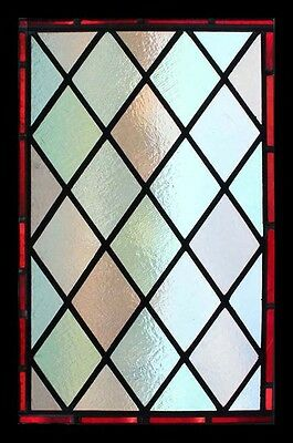 Victorian Diamonds Antique English Stained Glass Window
