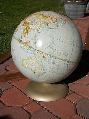"Vintage Rand McNally Political Globe 12"" World Globe w/Metal Stand"