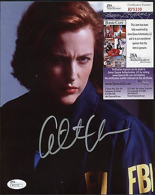 Gillian Anderson The X Files Signed 8x10 Photo JSA COA AUTO Autograph