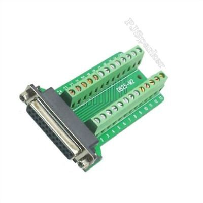 Pcb Board Terminals D-Sub Connector Db25 Female 25Pin Plug Breakout Ic New B