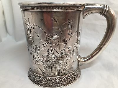 Gorham Japanese Aesthetic Sterling Cup 1888 #4234