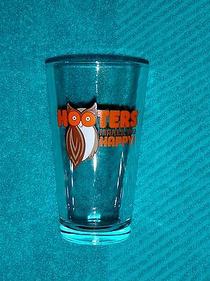 """Hooters Makes You Happy 6"""" Beer Glass"""