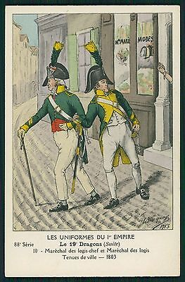 Dragons France war Army original old c1910s postcard lot complete SET of 9