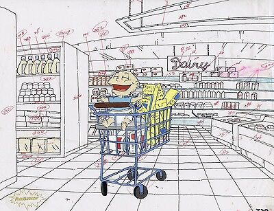 RUGRATS Production Cel Cell Original Animation Art Nickelodeon Pickles Tommy