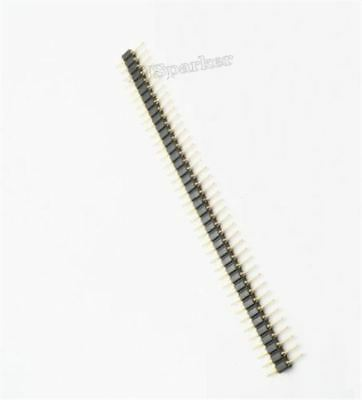 50Pcs 40Pin 2.54MM Round Pin Header Single Row Male Gold Plated Machined New co