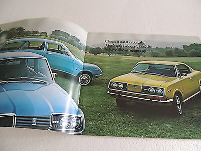 Toyota 1971 & 72 Corona Mark II Series Brochure Catalogue Great Year