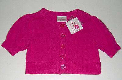 NWT Hanna Andersson 100% cotton pink knit sweater cardigan sz 3T euro 90