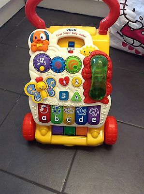 Vtech First Steps Baby Walker Learning Musical Toy With Play Tray