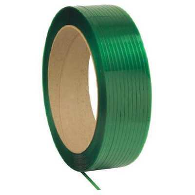 33RZ14 Plastic Strapping, 3600ft L, 0.76mil, Green