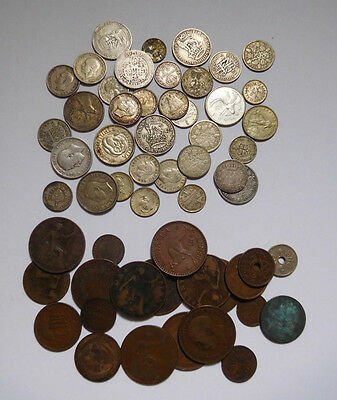 Worldwide Early & Old Coins Lot, 35 Silver Coins, Estate