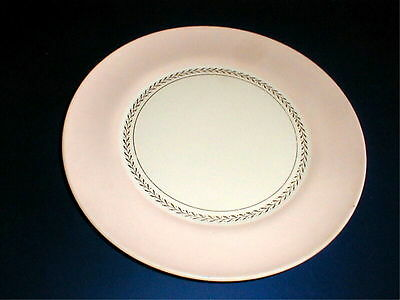 American Limoges Coral Pink Band Federal DIPLOMA Luncheon Plate/s (loc-9A)
