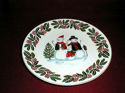 GEI China Christmas Holiday SNOWMAN Dinner Plate/s