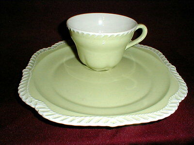 Harker CHESTERTON Chartreuse Gadroon Snack Plate/s Only