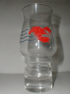Maine RED LOBSTER Restaurant Stackable 18 oz Hurricane Glass Tumbler/s