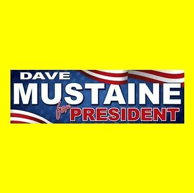 """""""DAVE MUSTAINE FOR PRESIDENT"""" Megadeth STICKER, guitar rock, Peace Sells, band"""