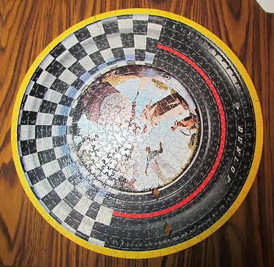Dunlop Tire & Rubber Tires Golf Balls Vintage Circular Advertising Puzzle As-Is