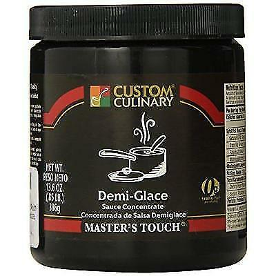 Custom Culinary Master's Touh  Concentrate, Demi Glace Sauce, 13.6 Ounce New