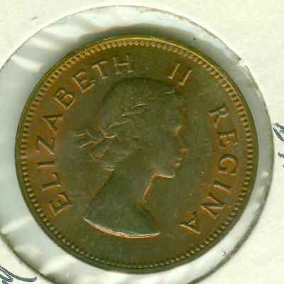 South Africa Uncirculated 1957 1/2 Penny-SUN0423