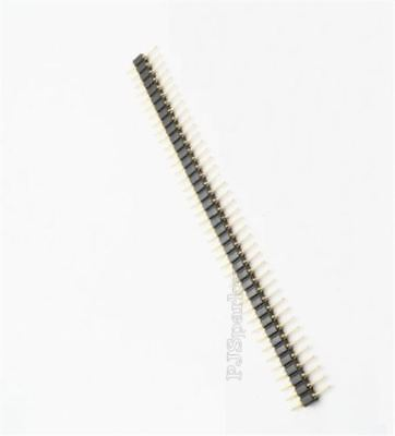 20Pcs Male Gold Plated Machined 40Pin Pin Header Single Row 2.54MM Round New fm