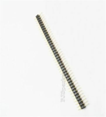 20Pcs Male Gold Plated Machined Single Row Pin Header 2.54MM Round 40Pin Ic N by