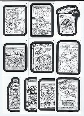 2013 Topps WACKY PACKAGES ANS Series 11 COLORING CARD Insert Set  (10 Cards)