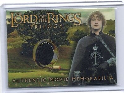 LOTR Lord Of The Rings Trilogy chrome Pippin's Gondorian Tunic costume card #4