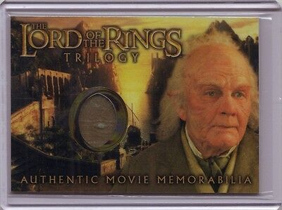 LOTR Lord Of The Rings Trilogy Bilbo's Grey Haven Waistcoat costume card HOBBIT