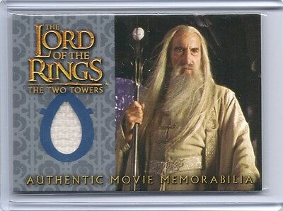 LOTR TTT Lord Of The Rings TWO TOWERS Saruman's Overtunic costume swatch card