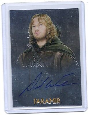 TOPPS LOTR Lord Of The Rings Trilogy David Wenham Faramir autograph auto card #5