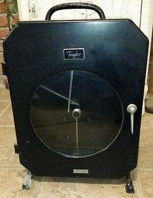 TAYLOR CHART RECORDER FULSCOPE vintage steampunk industrial cabinet portable old