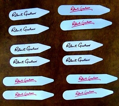 ~Robert Graham Signature Mens Collar Stays (6 Pairs)~ Authentic!!!