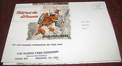 Vintage Allis Chalmers Tractor Sales Brochure Catalog Gregory SD Free Shipping!!